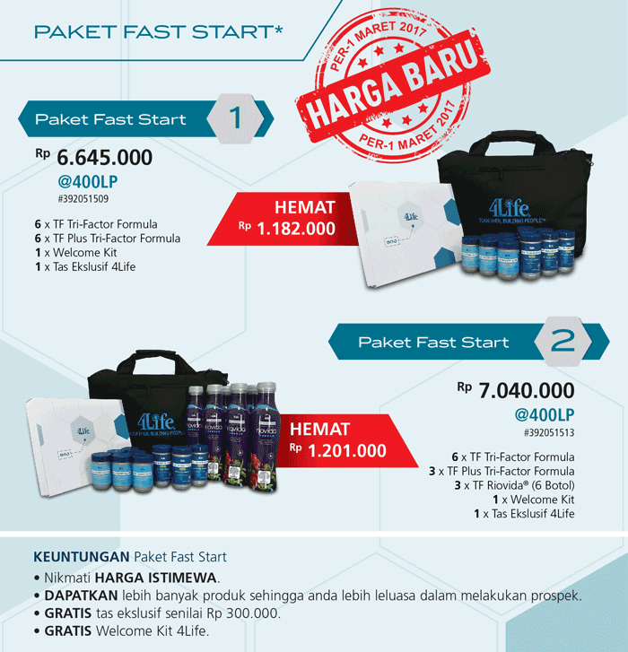 Paket Member 4Life Transfer Factor - Paket Fast Start - Paket Diamond