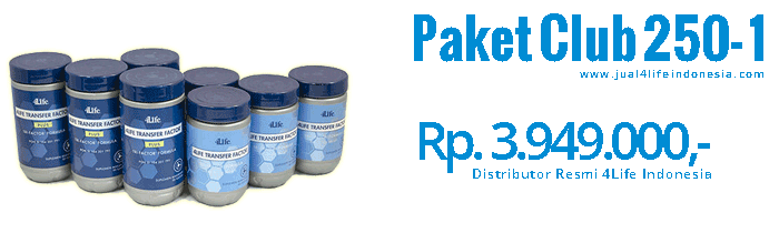 Paket Club 250 1 - 4Life Transfer Factor Indonesia