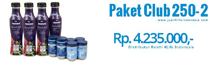 Paket Club 250 2 - 4Life Transfer Factor Indonesia