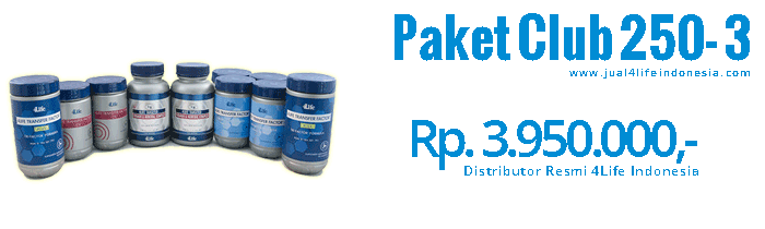 Paket Club 250 3 - 4Life Transfer Factor Indonesia